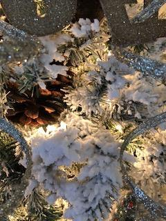 flocked christmas tree