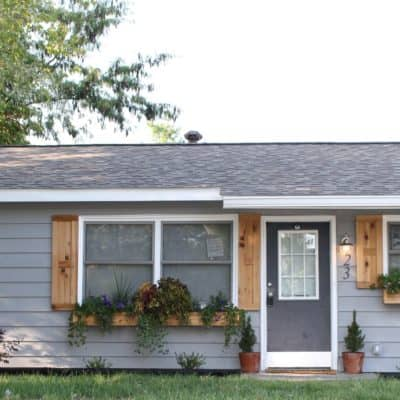 DIY Cedar shutters and window boxes