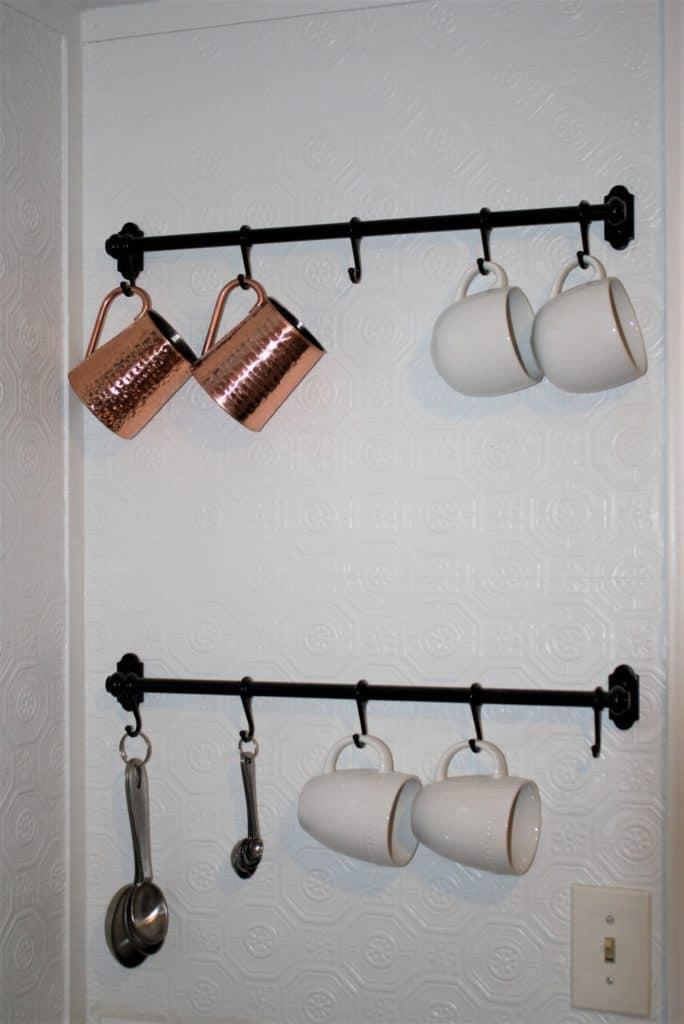 kitchen makeover, ikea hanging rack