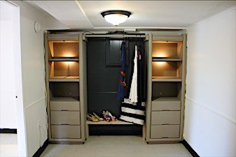 closet apartment makeover