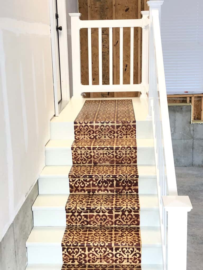 Painted step makeover