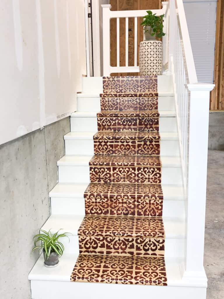 DIY garage steps makeover