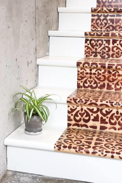 Stained Stairs Makeover
