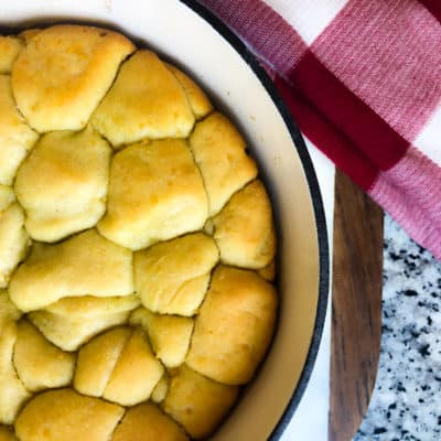 Dairy free herb pull apart bread