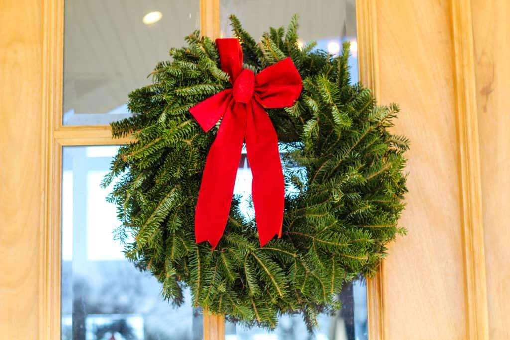 Fresh evergreen wreaths