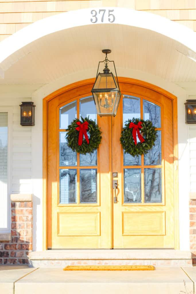 fresh evergreen christmas wreaths