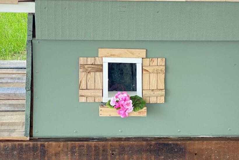 DIY wood shutters