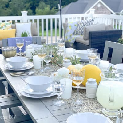 How To Makeover An Outdoor Table