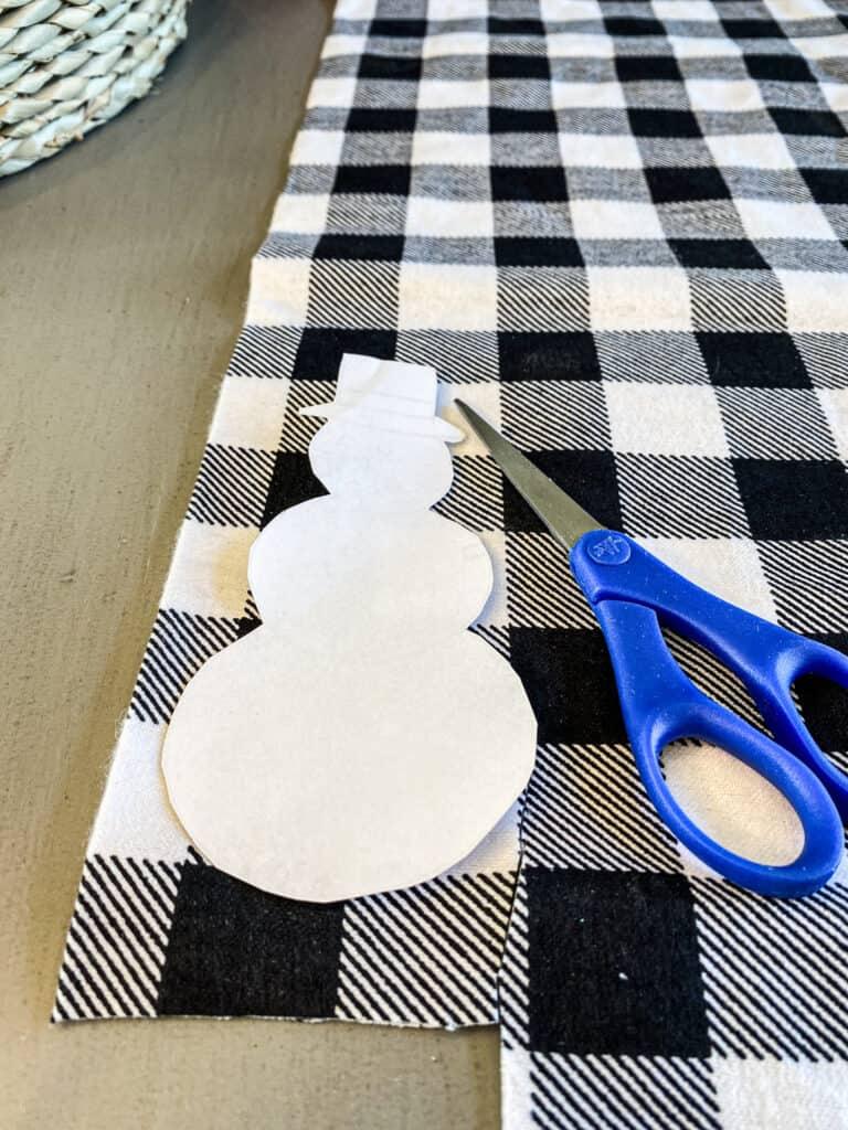 DIY Rustic Farmhouse Fabric Ornament
