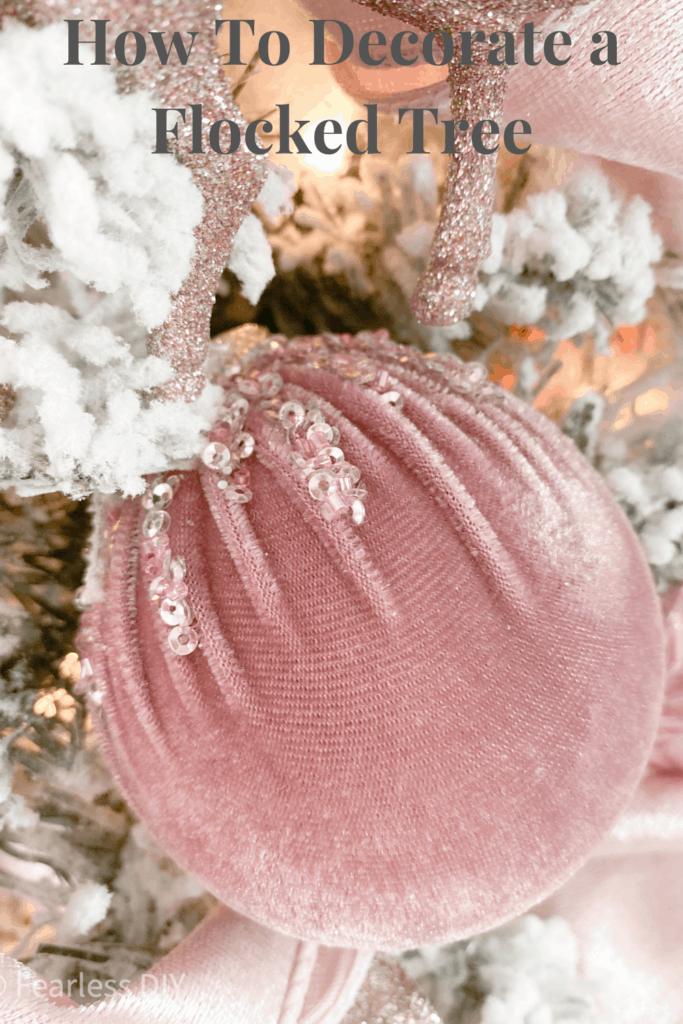 lilac velvet christmas ornament pin