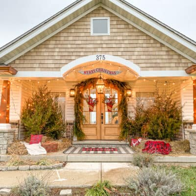 Christmas Front Porch Makeover 2020