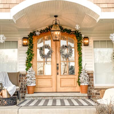 Winter Front Porch Makeover 2021