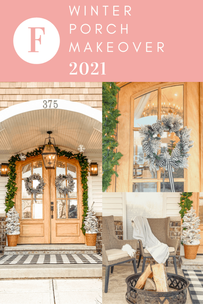 winter front porch makeover