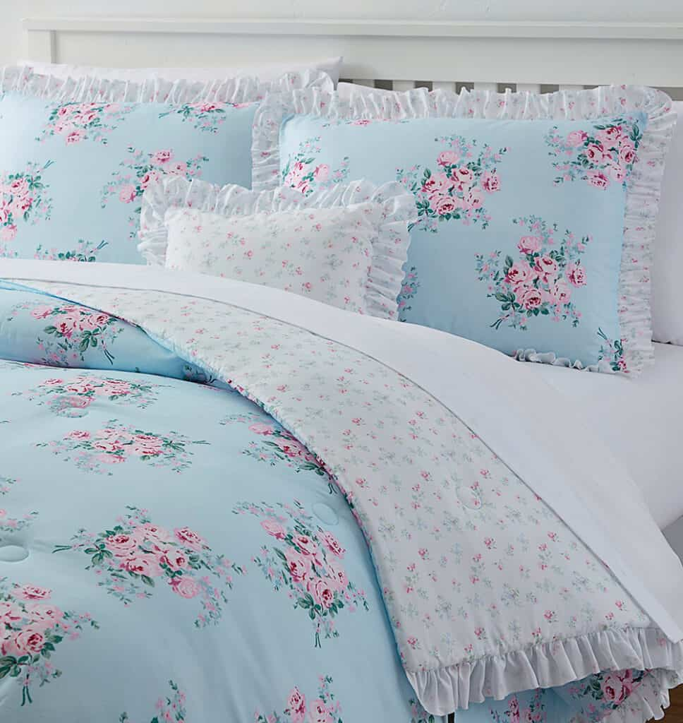 Simply Shabby Chic Bouquet Rose Comforter Set