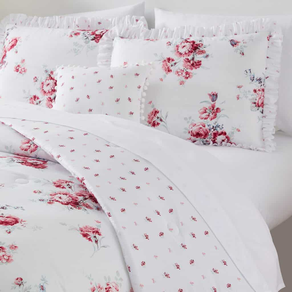 Simply Shabby Chic Sunbleached Floral Bedding Set