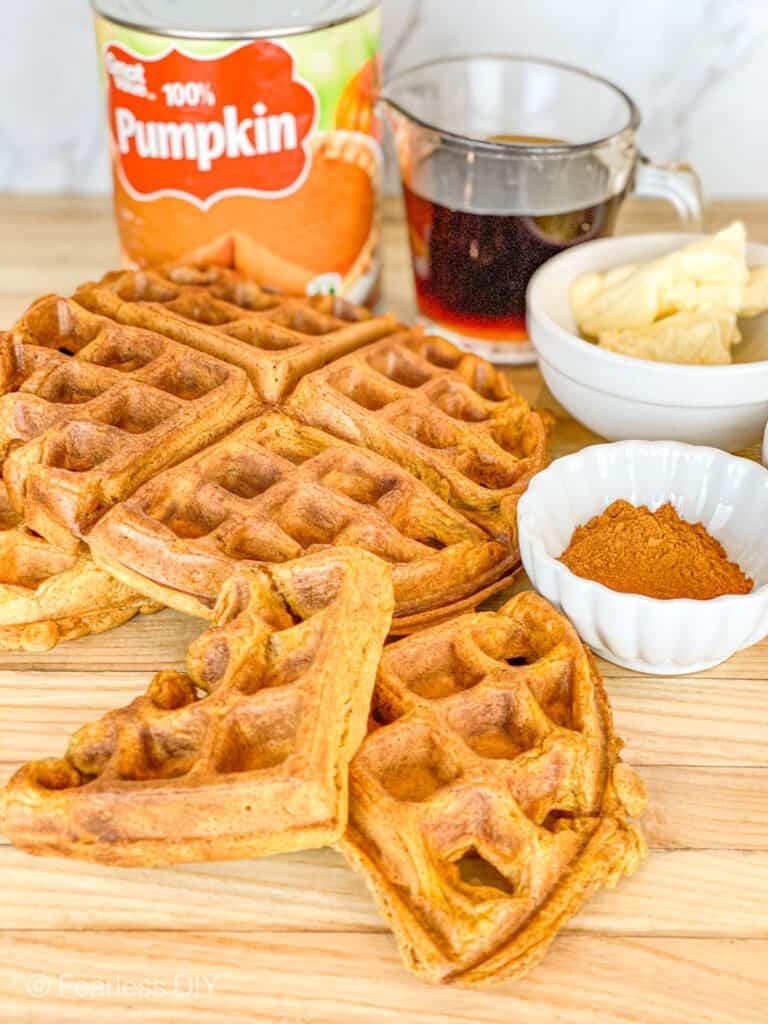Three recipes for pumpkin spice waffles